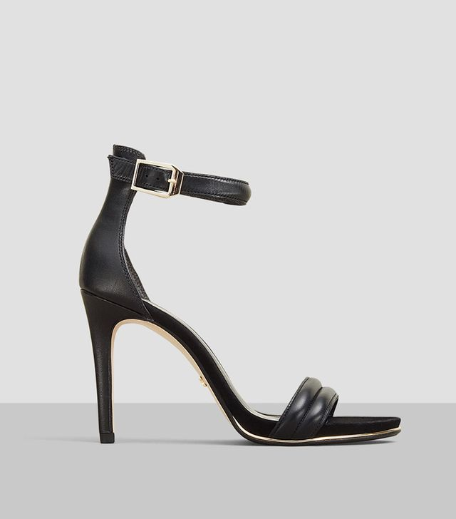 Kenneth Cole Brooke Open-Toe Leather Heels