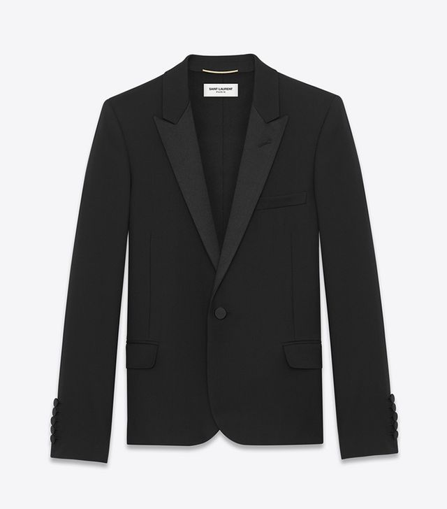 Saint Laurent Iconic Le Smoking Cropped Jacket