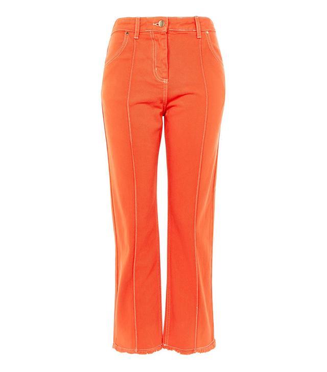 Topshop Seam Front Crop Jeans by Boutique