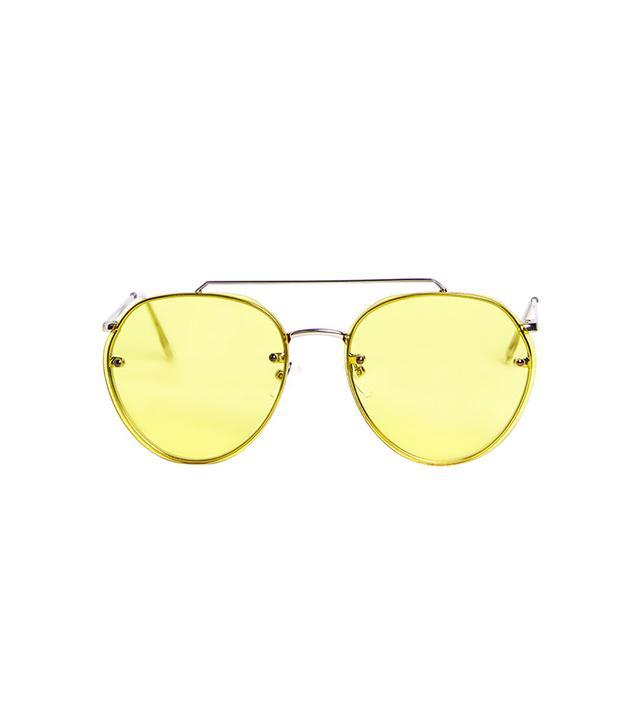 Topshop Small Rimless Aviator Sunglasses