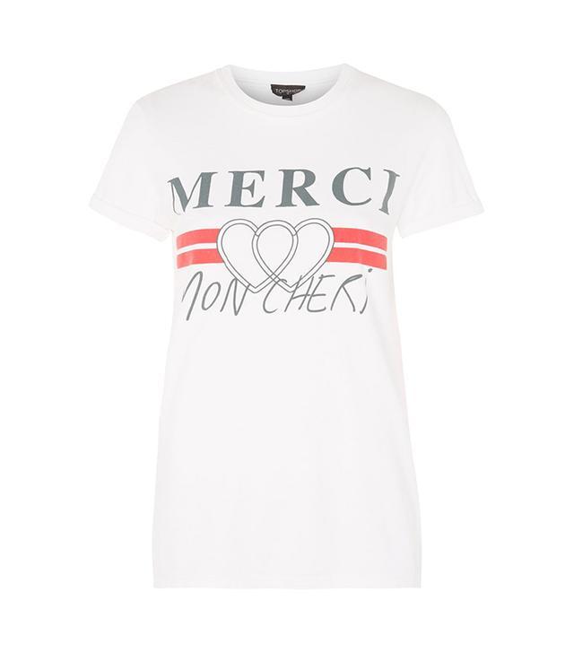 Topshop Merci Graphic Print T-Shirt