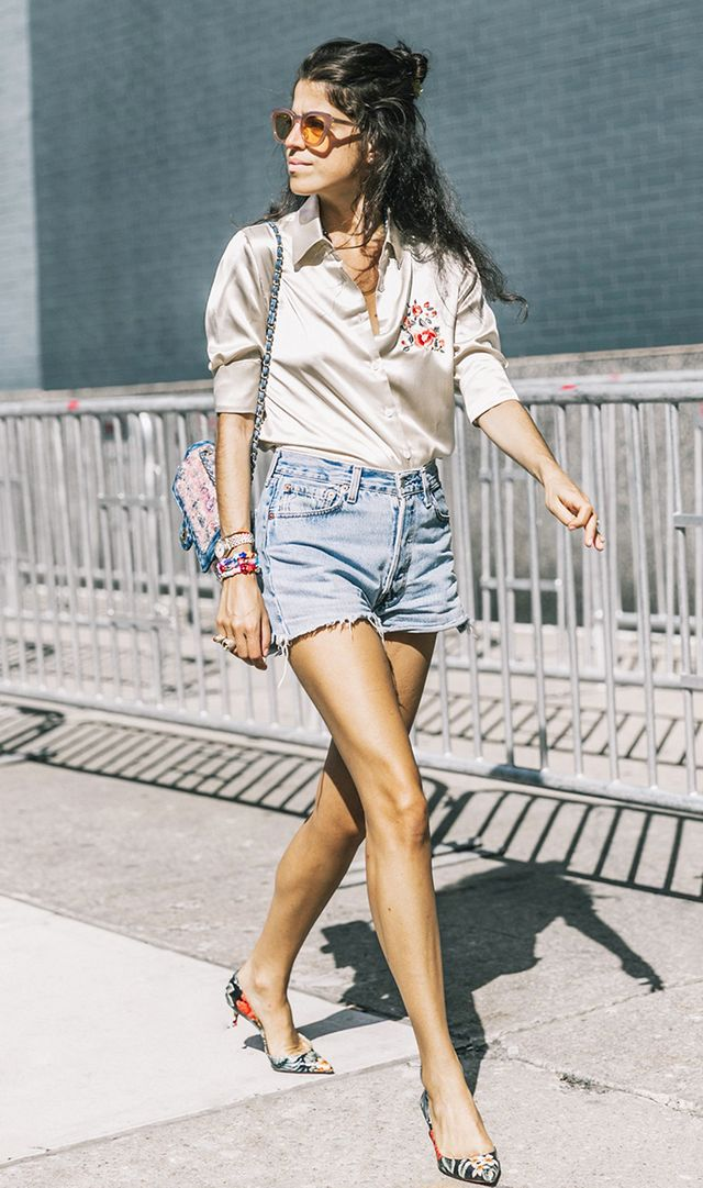 Best shoes to wear with shorts - Leandra Medine