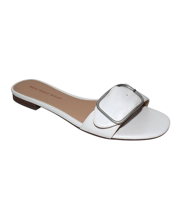 Best Affordable Slides: Who What Wear Emma Buckle Slide Sandals