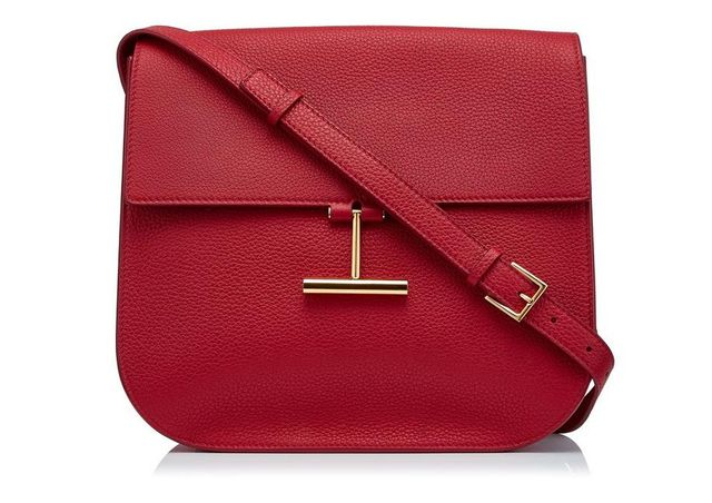 Tom Ford Tara T-Clasp Crossbody Bag in Red