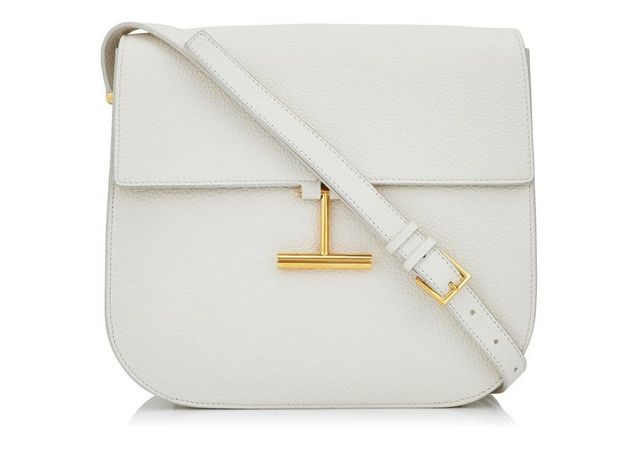 Tom Ford Tara T-Clasp Crossbody Bag in White
