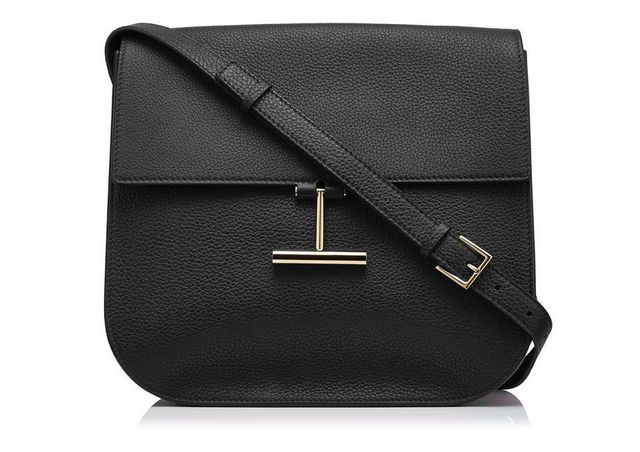 Tom Ford Tara T-Clasp Crossbody Bag in Black