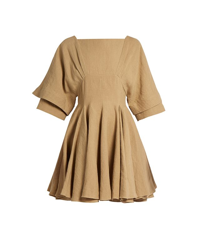 J.W.Anderson Square-Neck Linen Dress