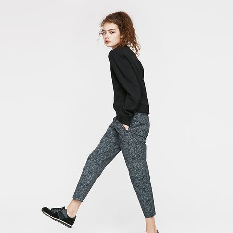 Stretch Crepe Track Pant