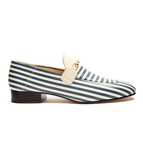 Striped Leather Loafers