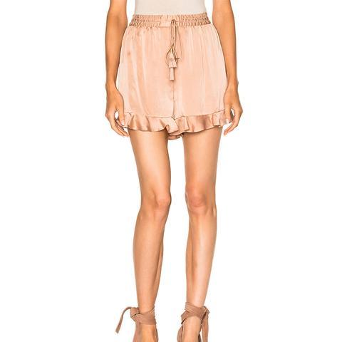 Sueded Flutter Shorts