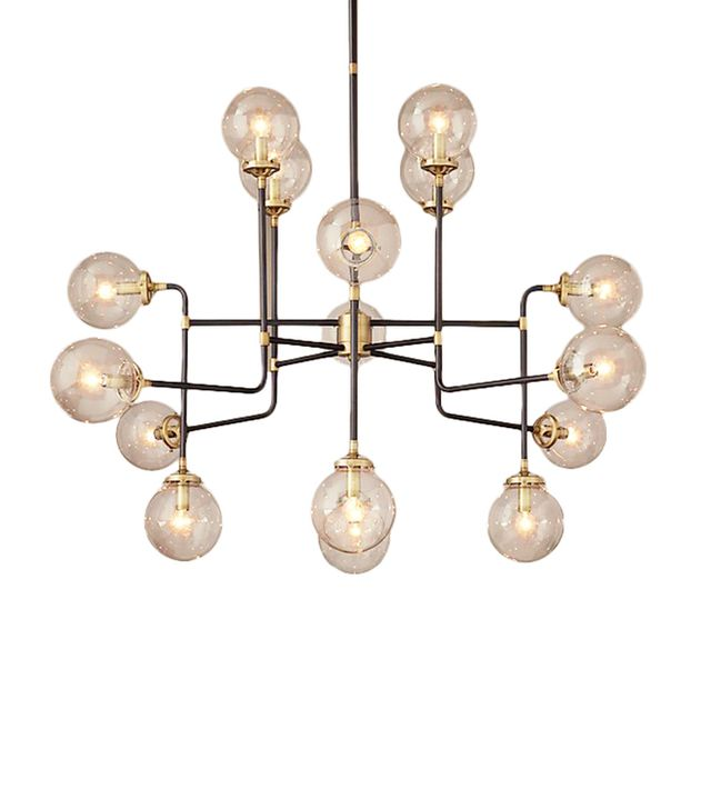 Restoration Hardware Bistro Globe Clear Glass 16-Light Chandelier