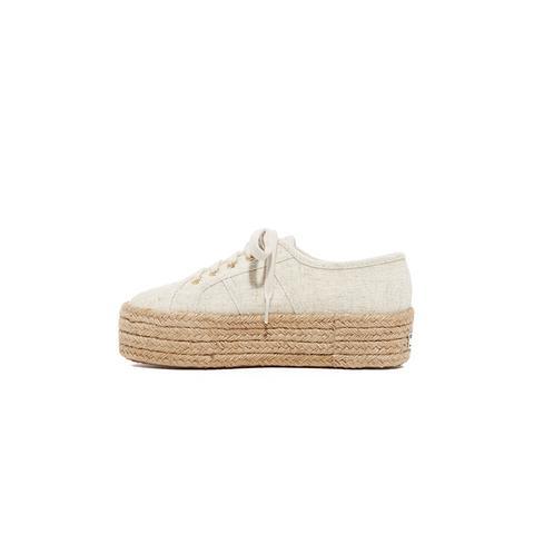 Linen Platform Espadrille Sneakers