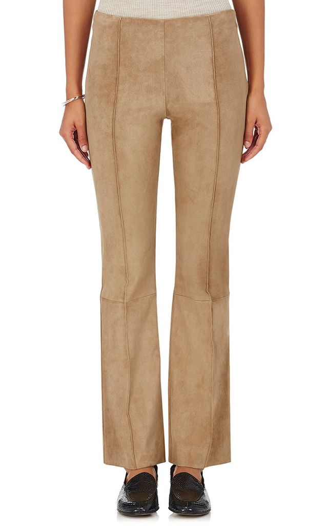 The Row Beca Suede Flare Pants