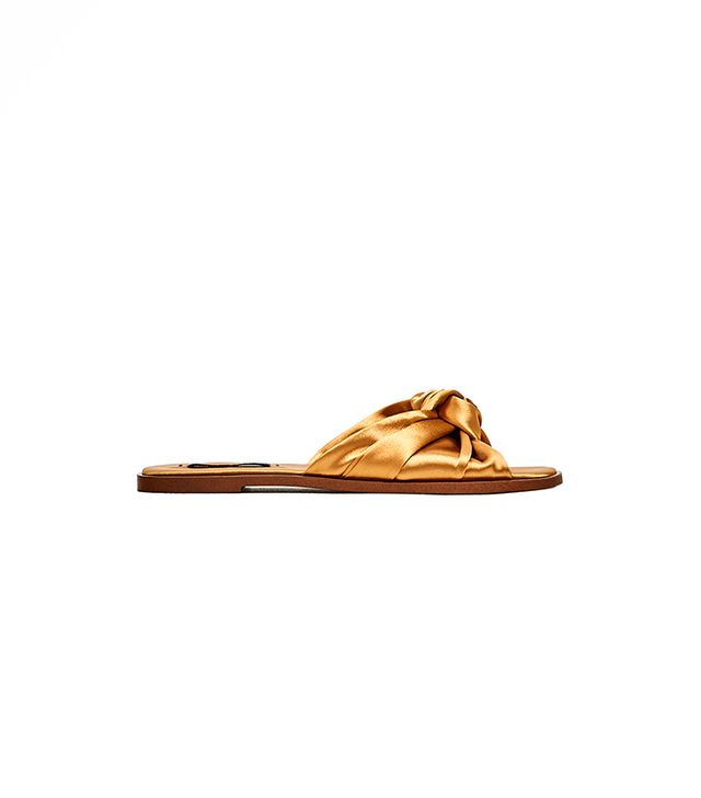 Zara Satin Bow Slides