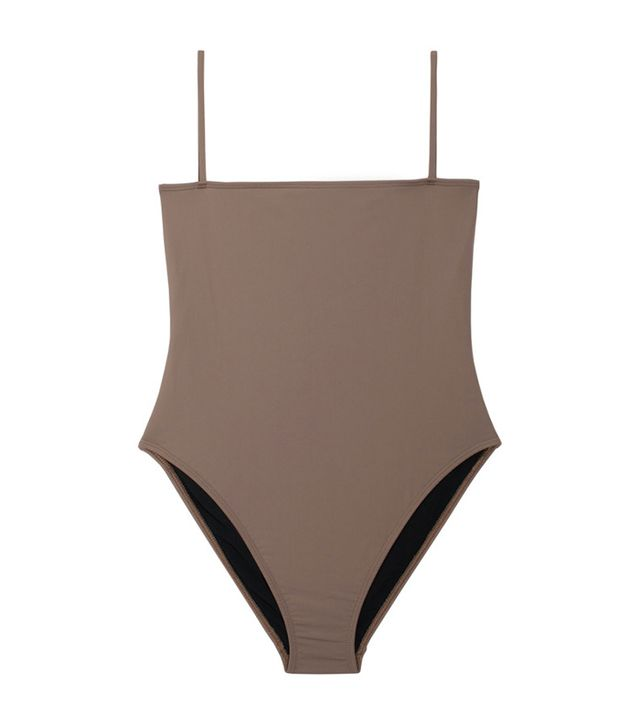 Nu Swim Taupe Straight Top One Piece