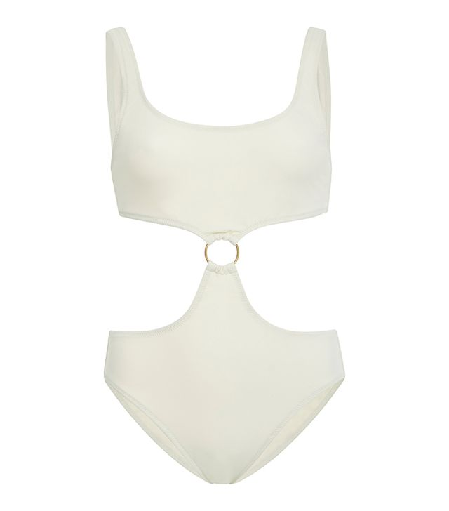 Solid & Striped Hallie Ring-Embellished Cutout Swimsuit