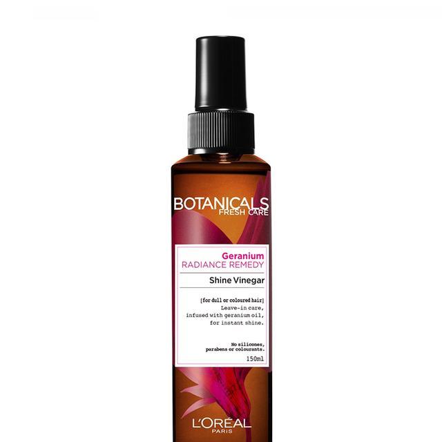 vinegar for hair: L'Oréal Botanicals Geranium Radiance Remedy Shine Vinegar