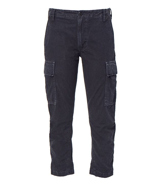 Re/Done Originals Cargo Pants in Washed Black
