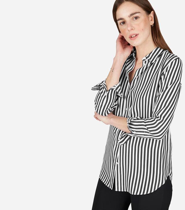 best striped silk shirt