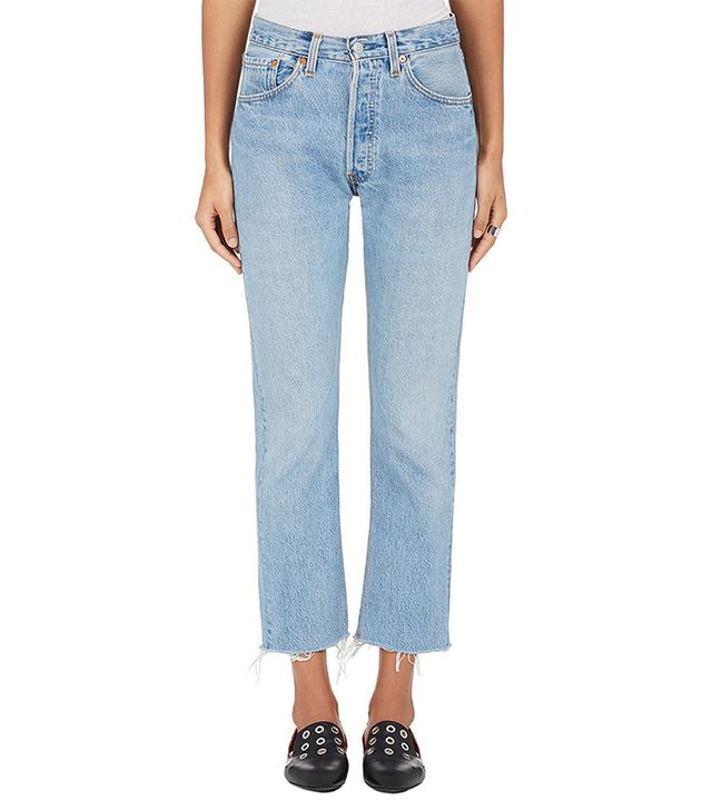 Re/Done | Levi's High Rise Crop Flare Jeans