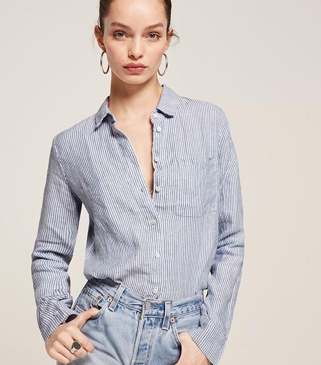 best striped buttondown shirt for women