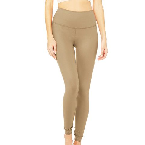 High-Waist Airbrush Leggings in Gravel Glossy