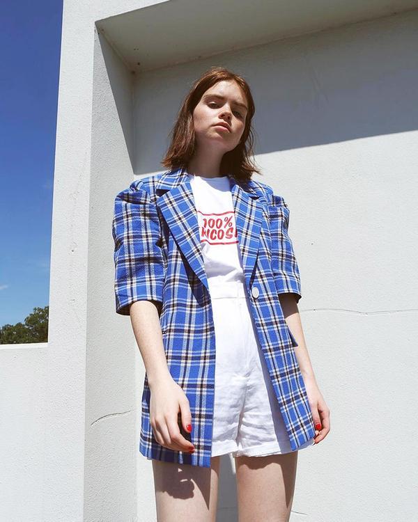 Short-Sleeve Blazer + Shorts