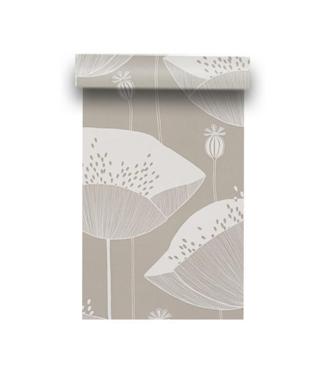Walnut Wallpaper Poppy Mushroom Wallpaper