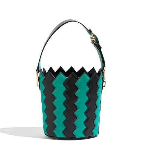 Zigzag Bucket Bag