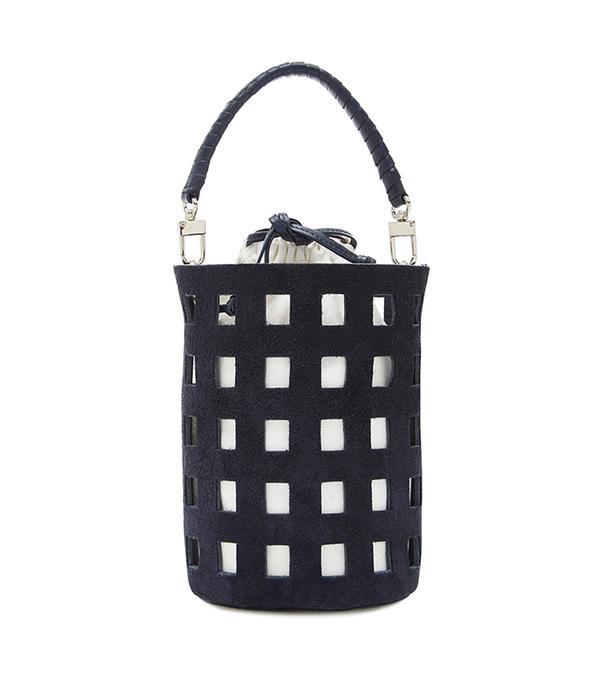 San Francisco street style - Hunting Season Cut-Out Bucket Bag