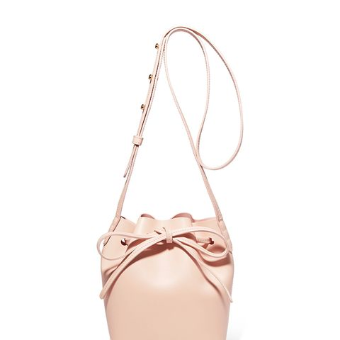 Mini Mini Leather Bucket Bag