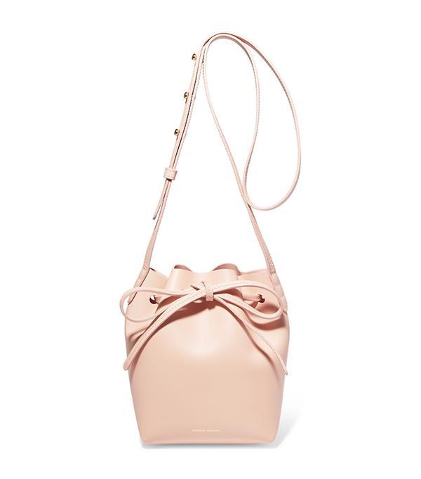 San Francisco street style -  Mansur Gavriel Mini Mini Leather Bucket Bag