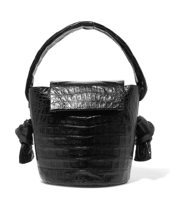San Francisco street style - Nancy Gonzalez Crocodile Bucket Bag
