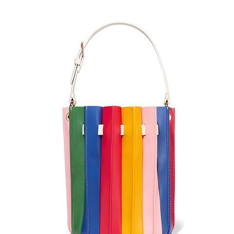 Plisse Bucket Bag