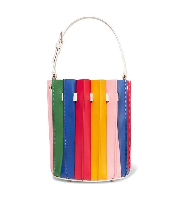 San Francisco street style - Sara Battaglia Plisse Bucket Bag