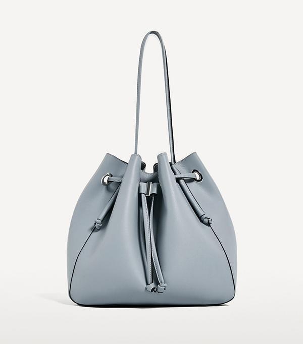 San Francisco street style - Zara Convertible Bucket Bag