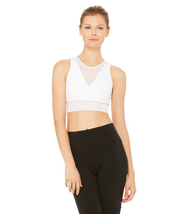 high neck bralette outfit - Alo Yoga Jubliee Bra