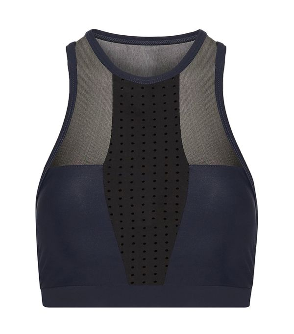 high neck bralette outfit - Athletic Propulsion Labs Paneled Sports Bra