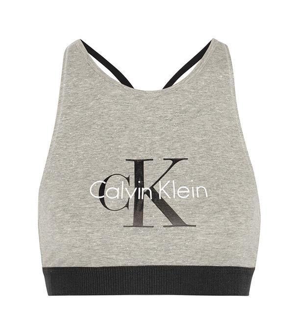high neck bralette outfit -  Calvin Klein Underwear Retro Bra