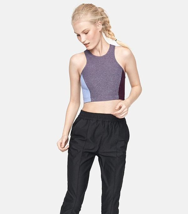 high neck bralette outfit - Outdoor Voices Colorblock Athena Top