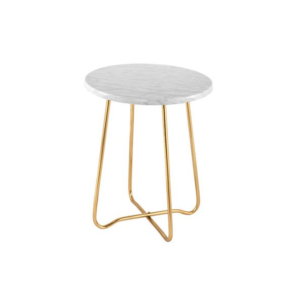 IDC Gold Marble Jessica Side Table