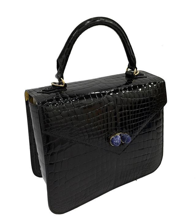 Ethan K Crocodile Handbag