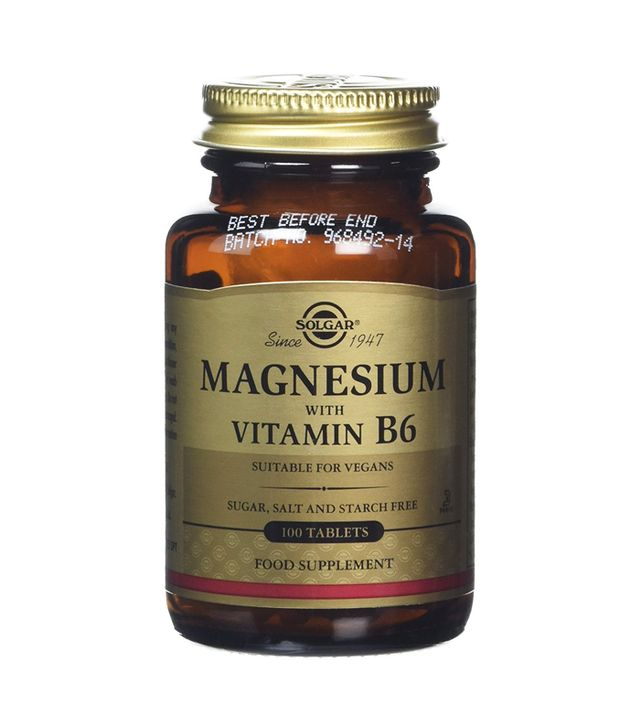 what is pms: Solgar Magnesium with Vitamin B6 can help stabilise mood, improve sleep and reduce water retention.