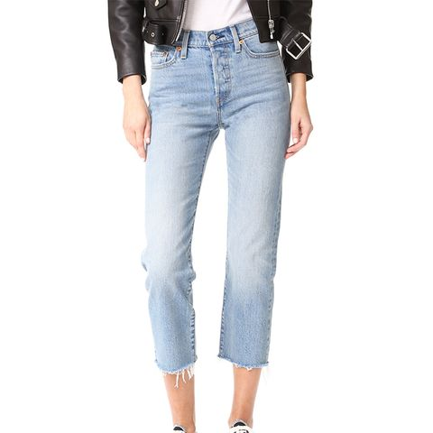 Wedgie Straight Jeans in Rough Tide