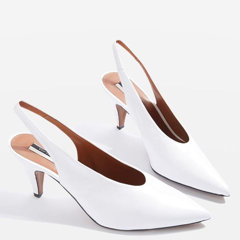 Jemma Point Mid Heel Court Shoes