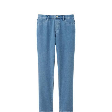 Denim Cropped Legging Pants