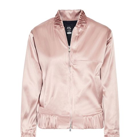 The Perfect Stretch-Satin Bomber Jacket