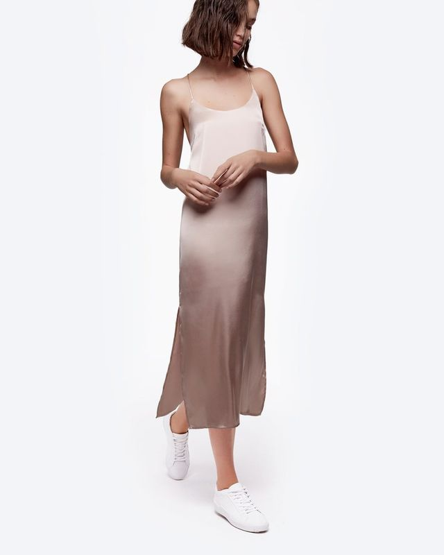 Daya by Zendaya Satin Cross-Back Slip Dress
