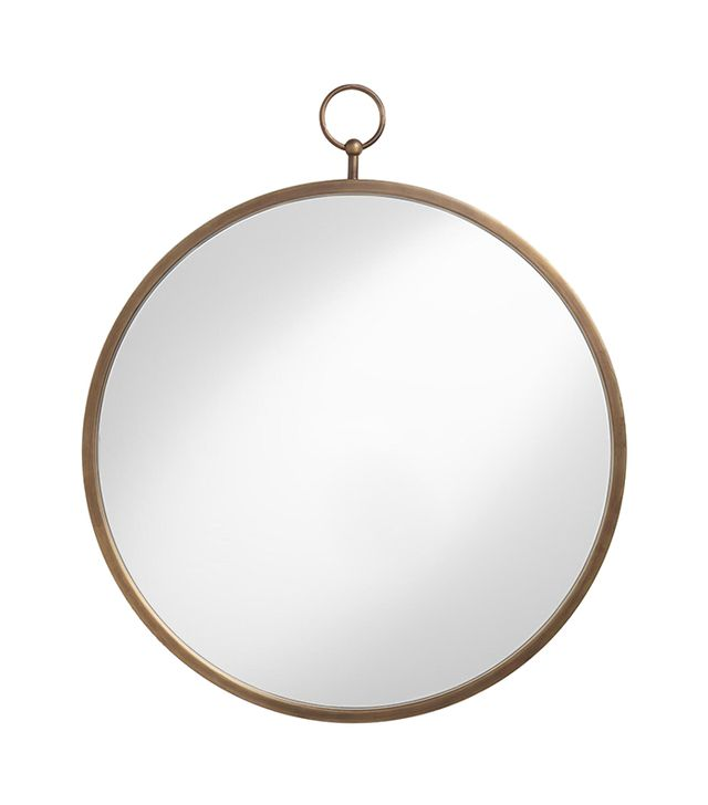 Cost Plus World Market Brass Metal Loop Mirror