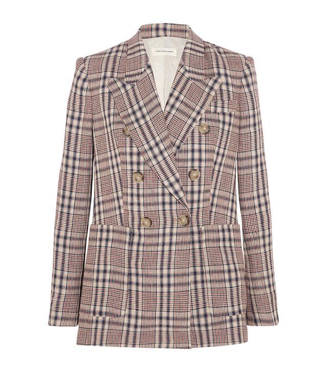 capsule wardrobe - Étoile Isabel Marant Janey Checked Linen Blazer